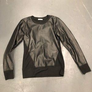 Helmut Lang leather sweatshirt